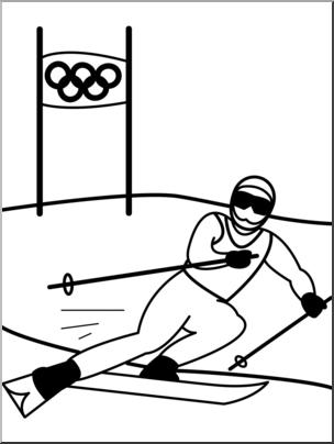 Olympics clipart ski. Clip art winter skiing