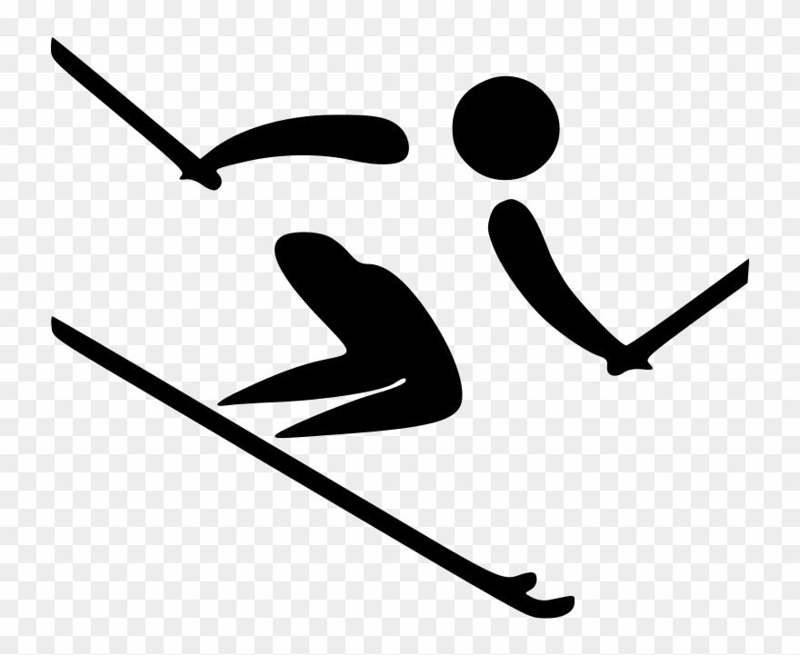 Alpine skiing pictogram olympic. Olympics clipart ski