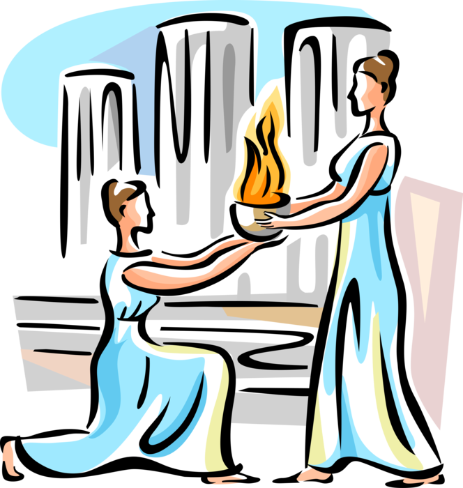 Torch clipart prometheus. Olympic flame vector image