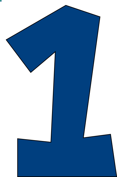 Number muted blue clip. One clipart