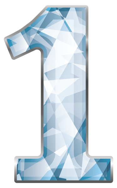 Crystal number png image. One clipart