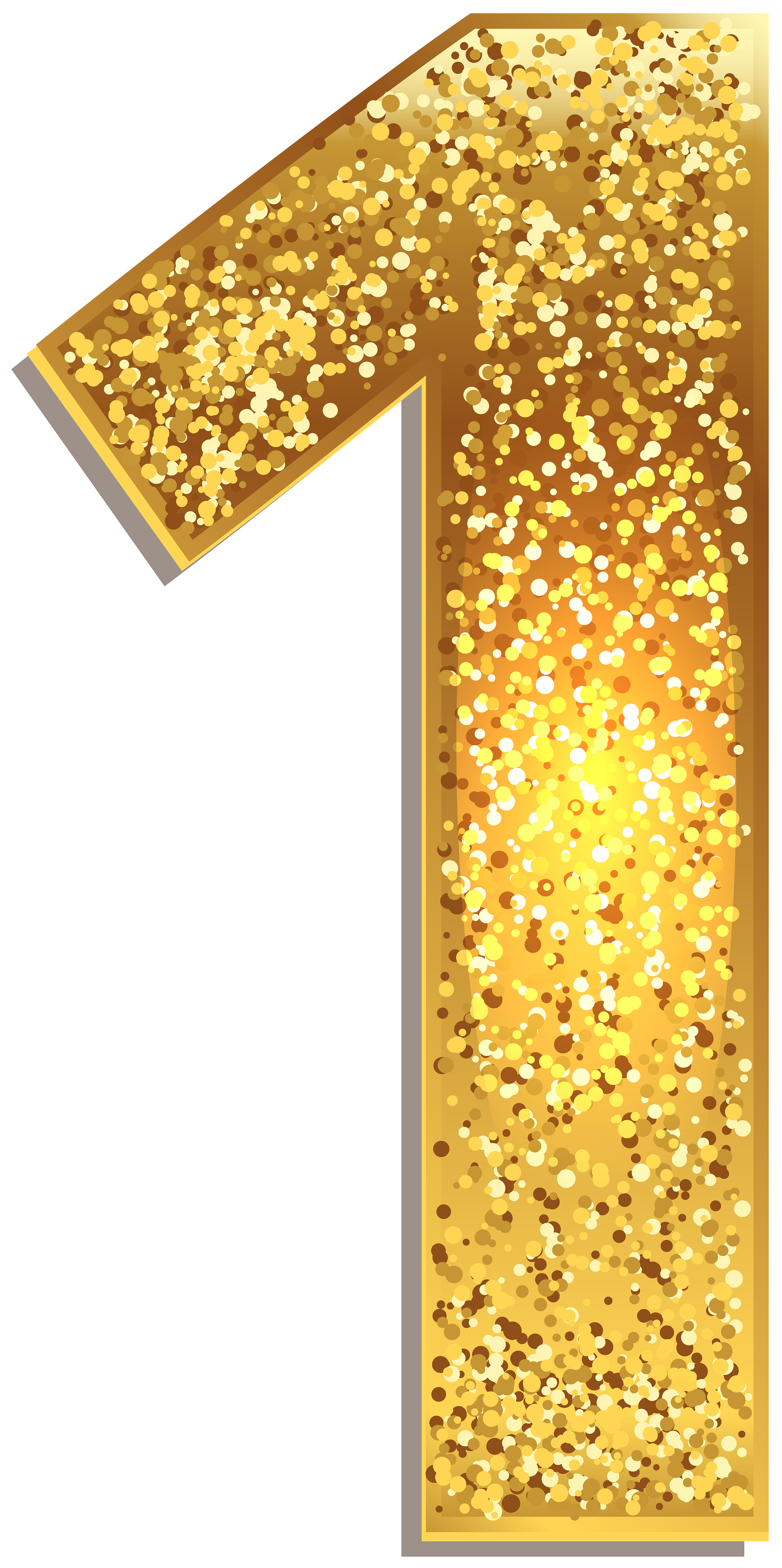 One gold shining png. Number 1 clipart 0ne