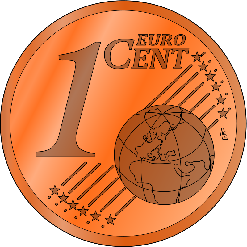 One clipart bold.  cent