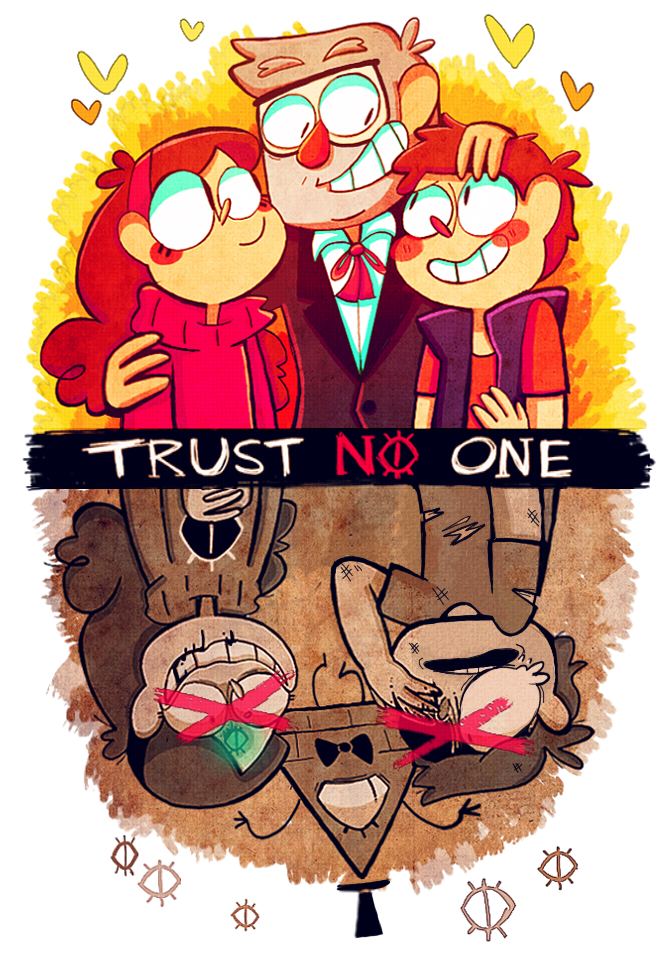 Trust no . One clipart cartoon