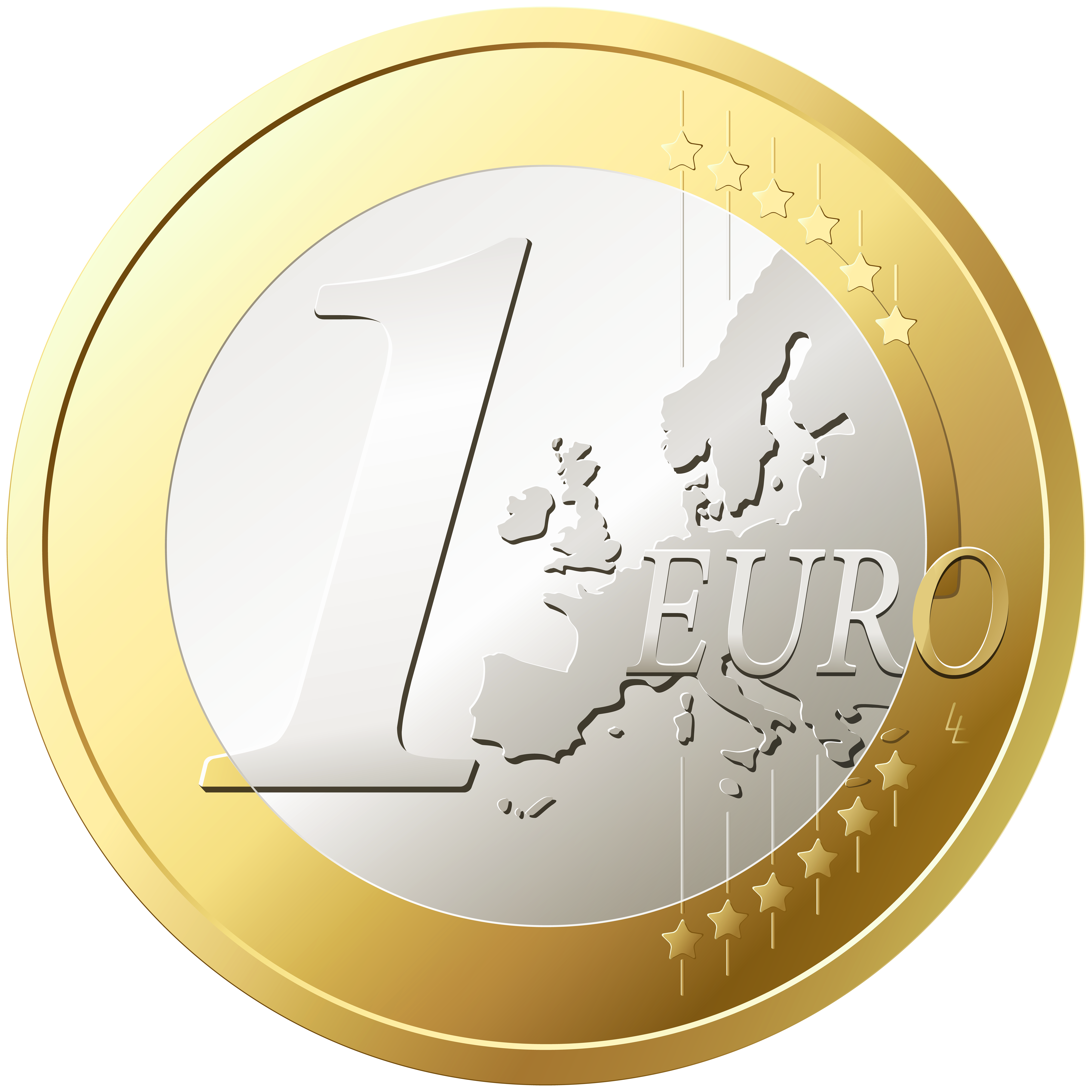 Euro png transparent clip. One clipart circle