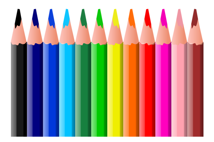 Free coloured pencils psd. One clipart colored pencil