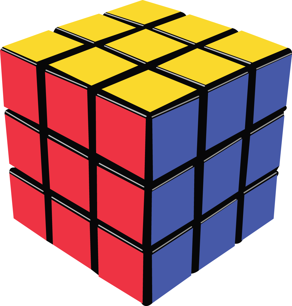 Rubik s cube png. One clipart cuboid