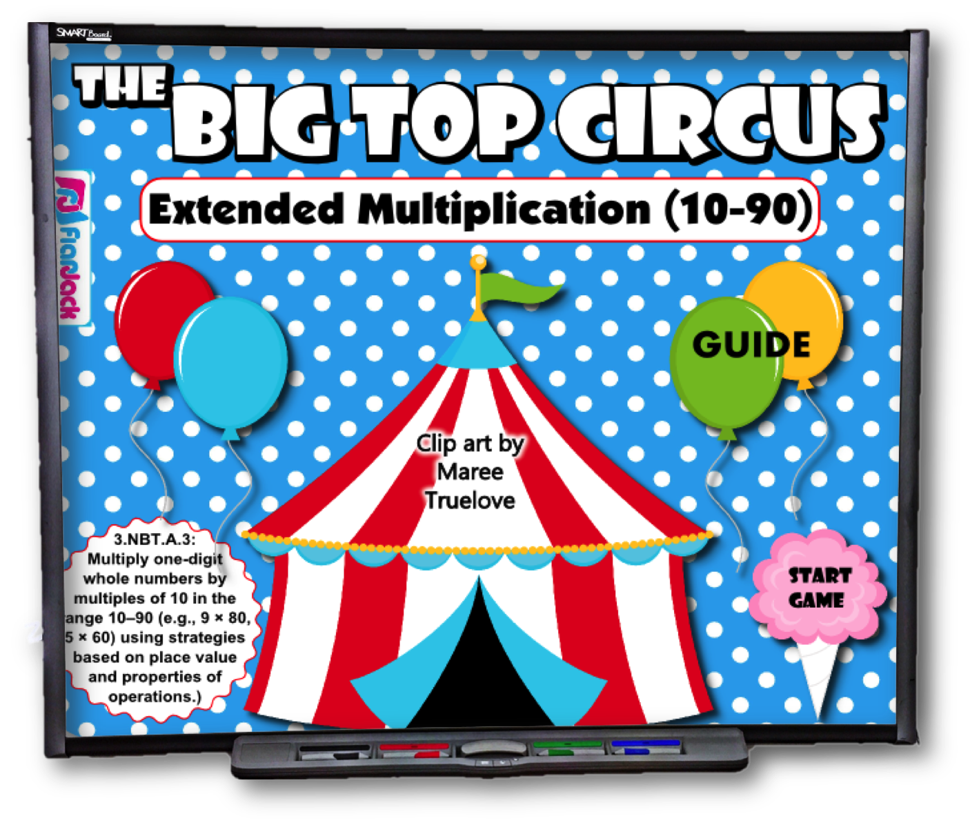 Big top circus extended. One clipart fun number