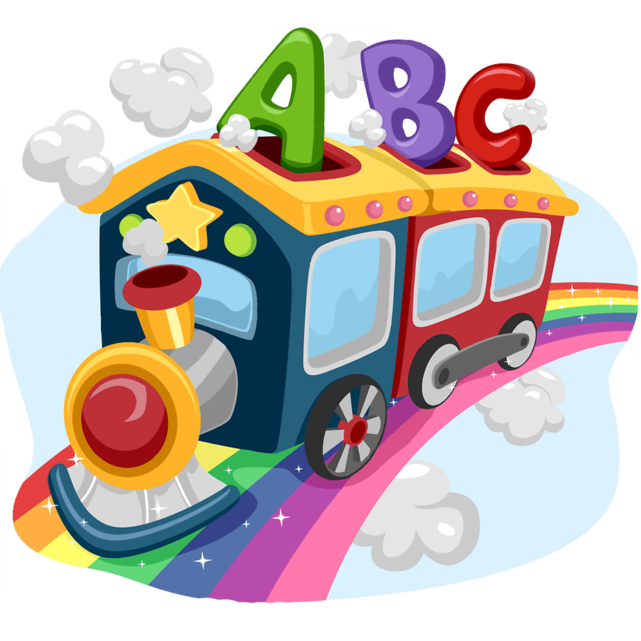 Kids learning game learn. One clipart fun number