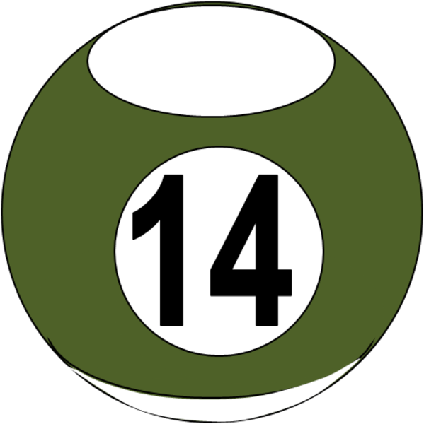 one clipart number 14