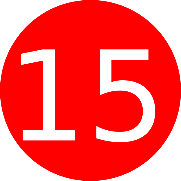 Number 1 clipart number 15. Red background clip art