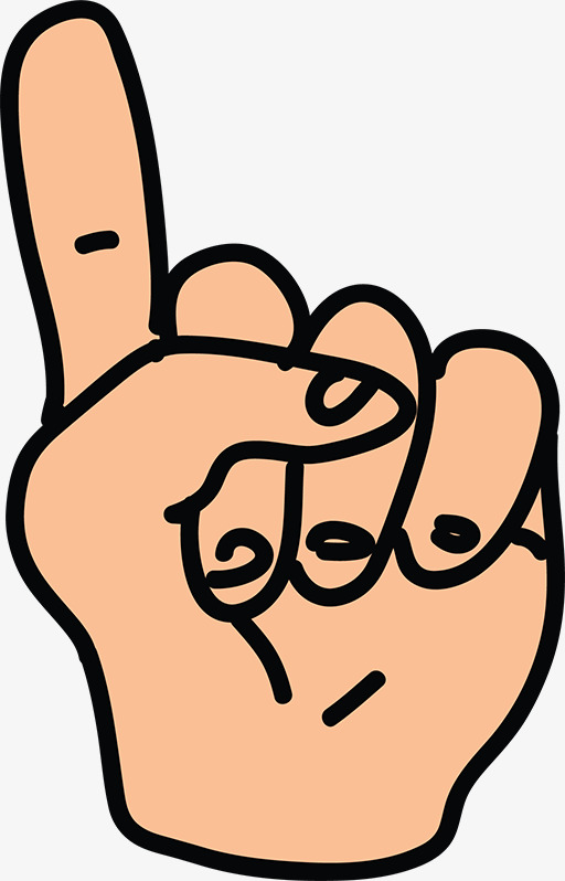 Finger station . Thumb clipart one
