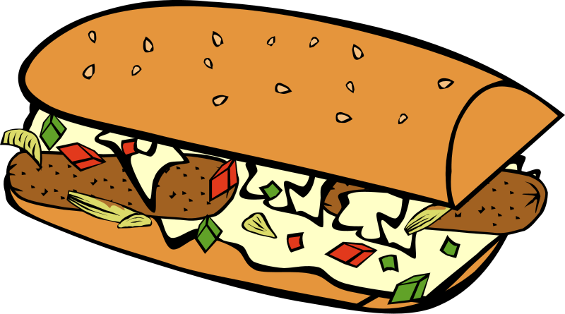 And peppers . One clipart sausage