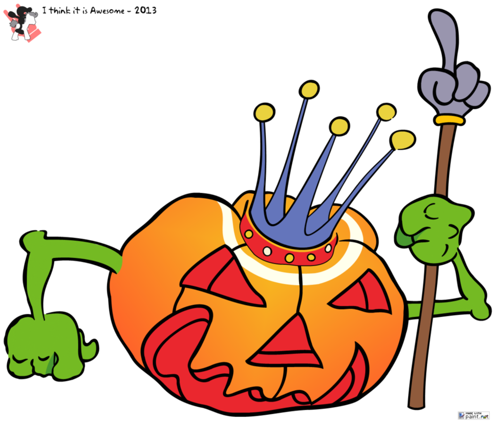 One clipart single number. Helloween by mrgameandwatch on
