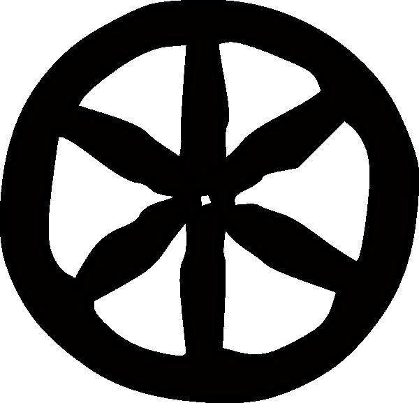Solid one layer wheel. Wagon clipart wagonwheel