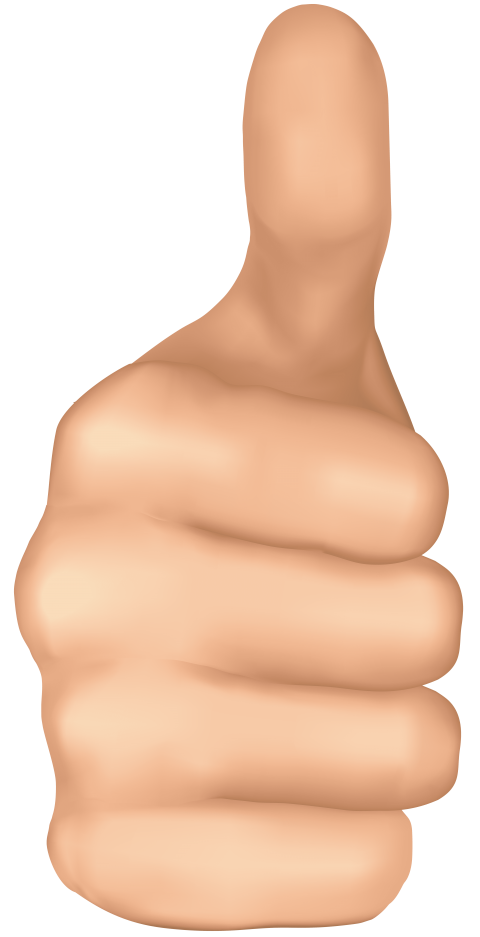 One clipart thumb up. Thumbs hand png free