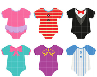 Etsy baby collection clip. Onesie clipart