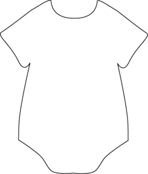 Black white free images. Onesie clipart