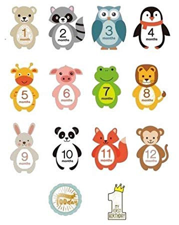 Baby monthly milestone stickers. Onesie clipart belly