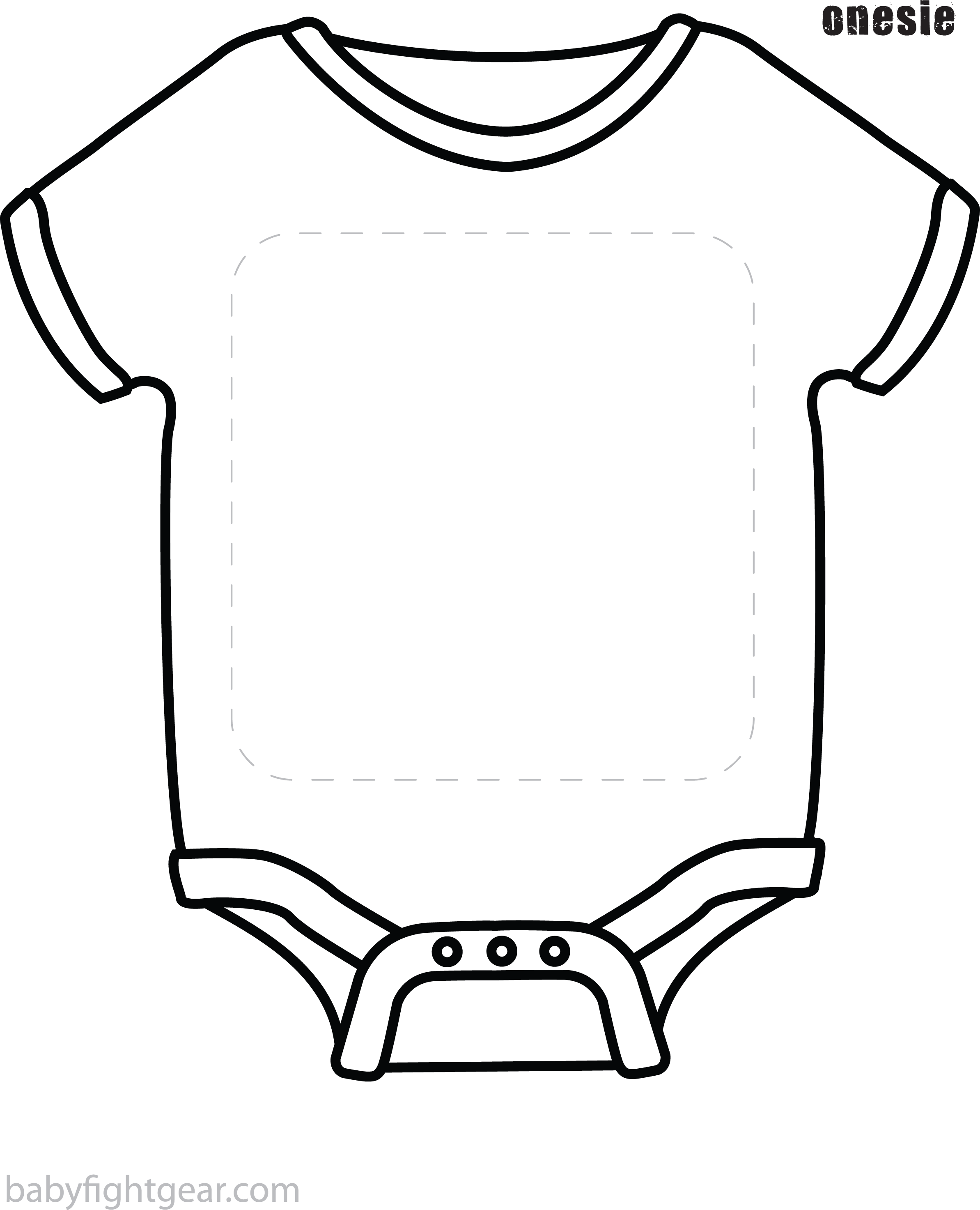 Onesie Clipart Black And White Onesie Black And White