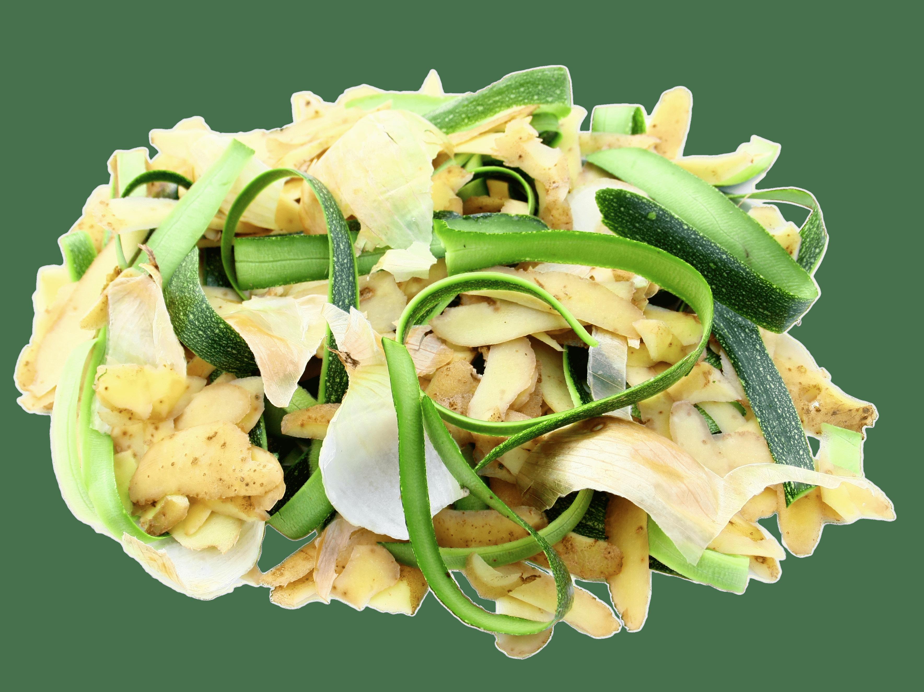 Potato and onion peels. Zucchini clipart vegetable