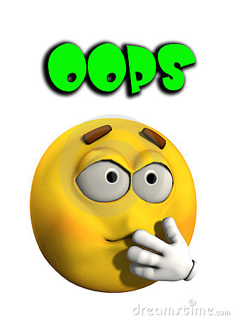 collection of funny. Oops clipart