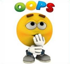 Free. Oops clipart