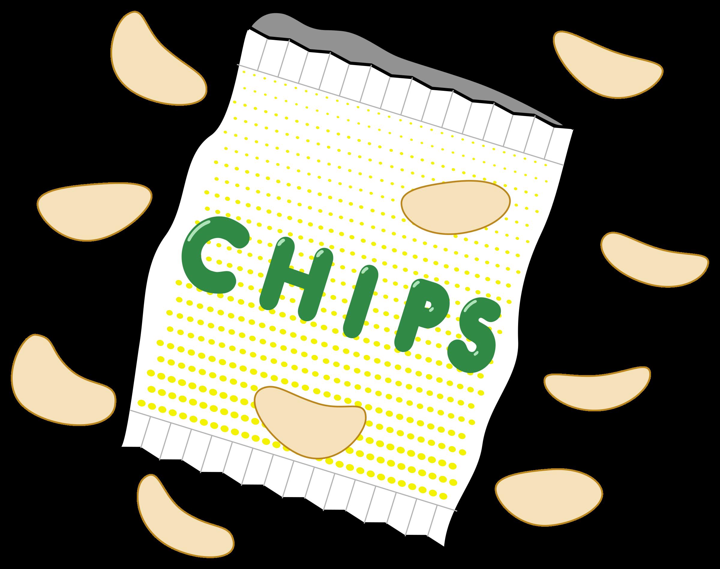 Potato clipart sack potato. Bag of chips big