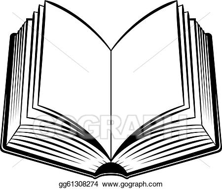 Vector clipart drawing gg. Open book clip art