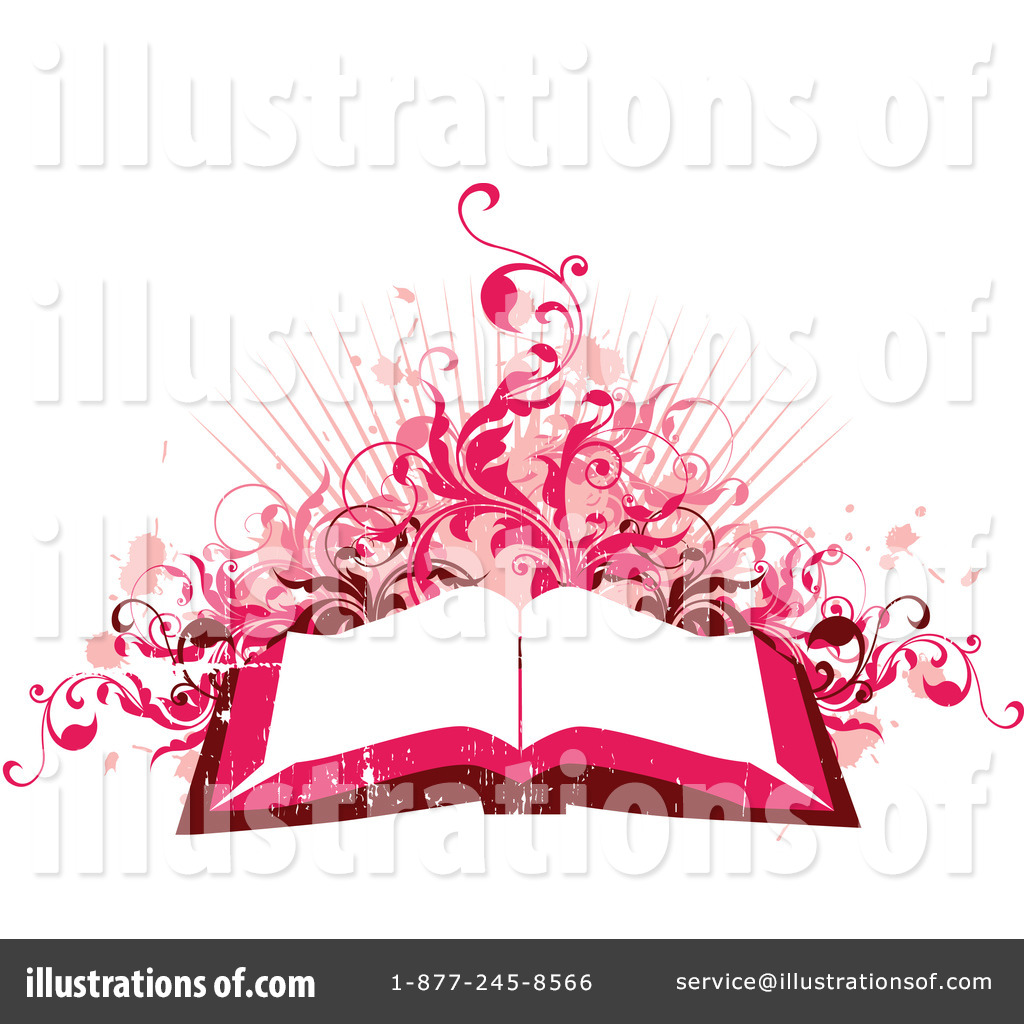 Open book clip art. Clipart illustration by onfocusmedia