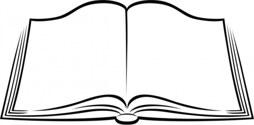 Bible clipart open book. Free black and white