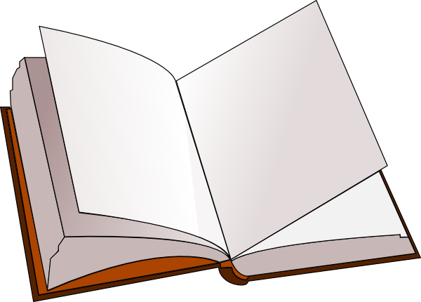 Blank with pages at. Open book clip art