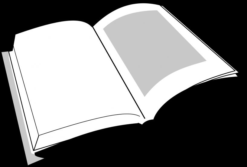 Clipart jokingart com . Open book clip art black and white
