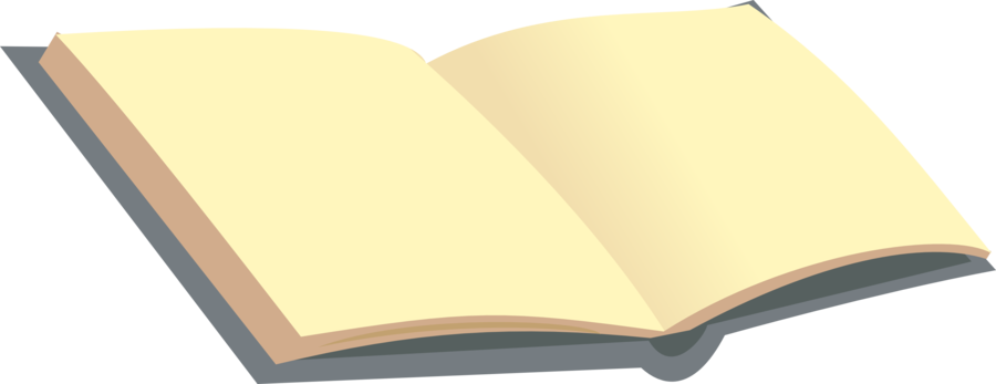 Open book clip art book page. Blank with flat pages