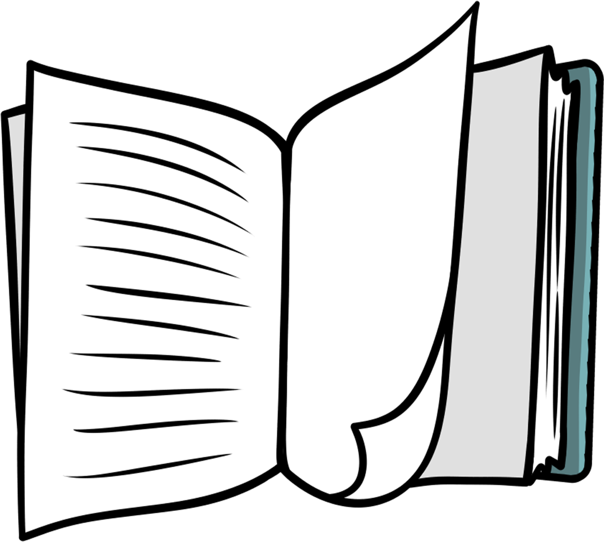 Hd free clipart transparent. Open book clip art book page