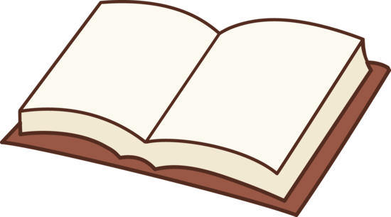 Clipart design free. Open book clip art colored