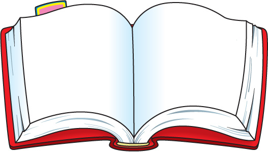 Free picture of download. Open book clip art colored