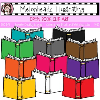 Melonheadz clipart book. Open clip art single