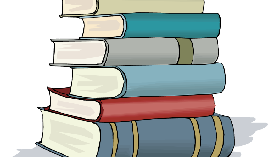 For stack of books. Textbook clipart colourful book
