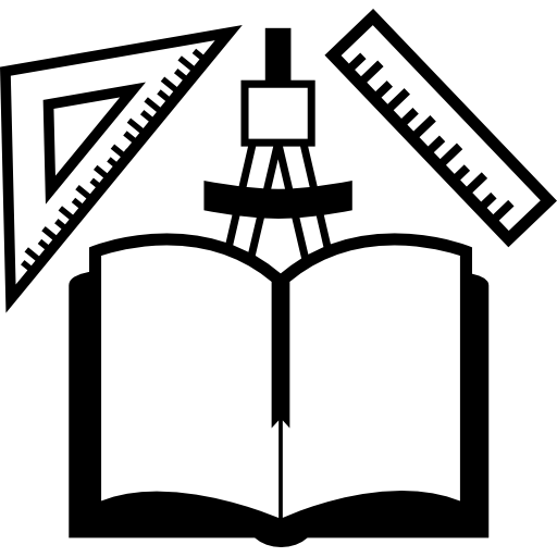 Open book clip art drawing. And tools icon free