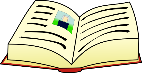 Open clip art at. Clipart book