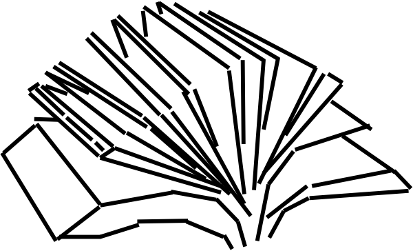 At clker com vector. Open book clip art drawing