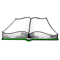 Green free borders and. Open book clip art illustration