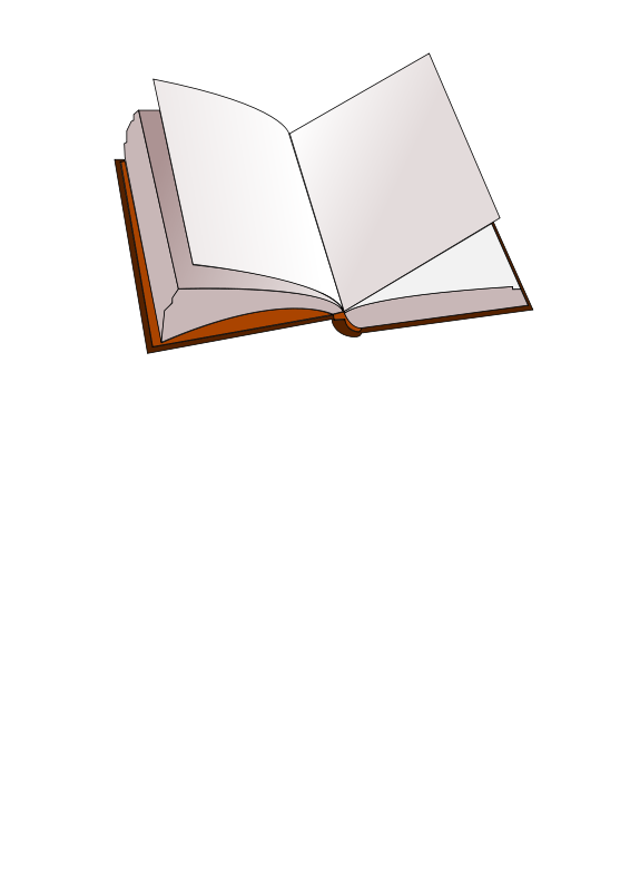 Free stock photo of. Open book clip art illustration
