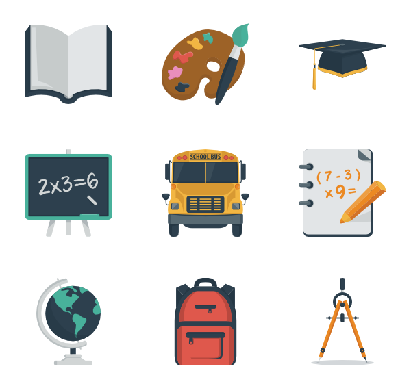 Clipart school icon. Open book icons free