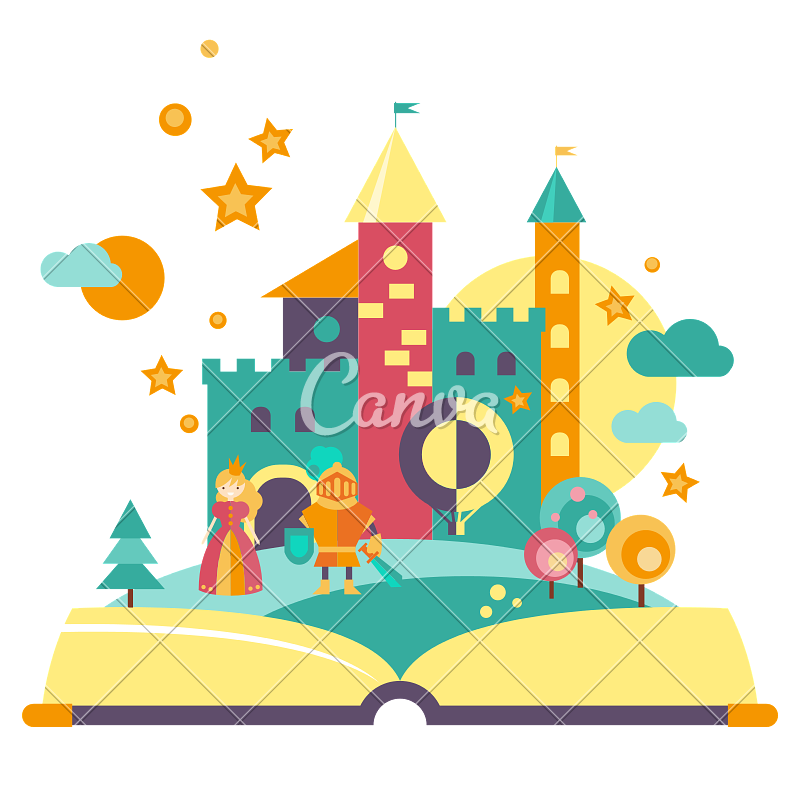Concept icons by canva. Open book clip art imagination