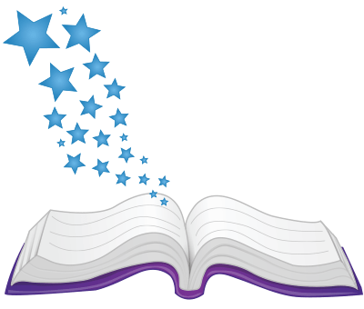 How to develop print. Open book clip art imagination