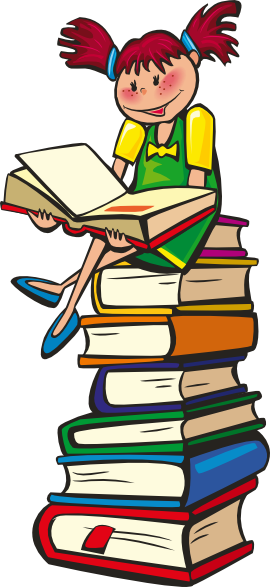 Girl reading school clipart. Open book clip art imagination