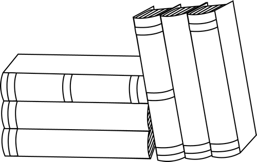 Books clipart black and white. Stack of clip art