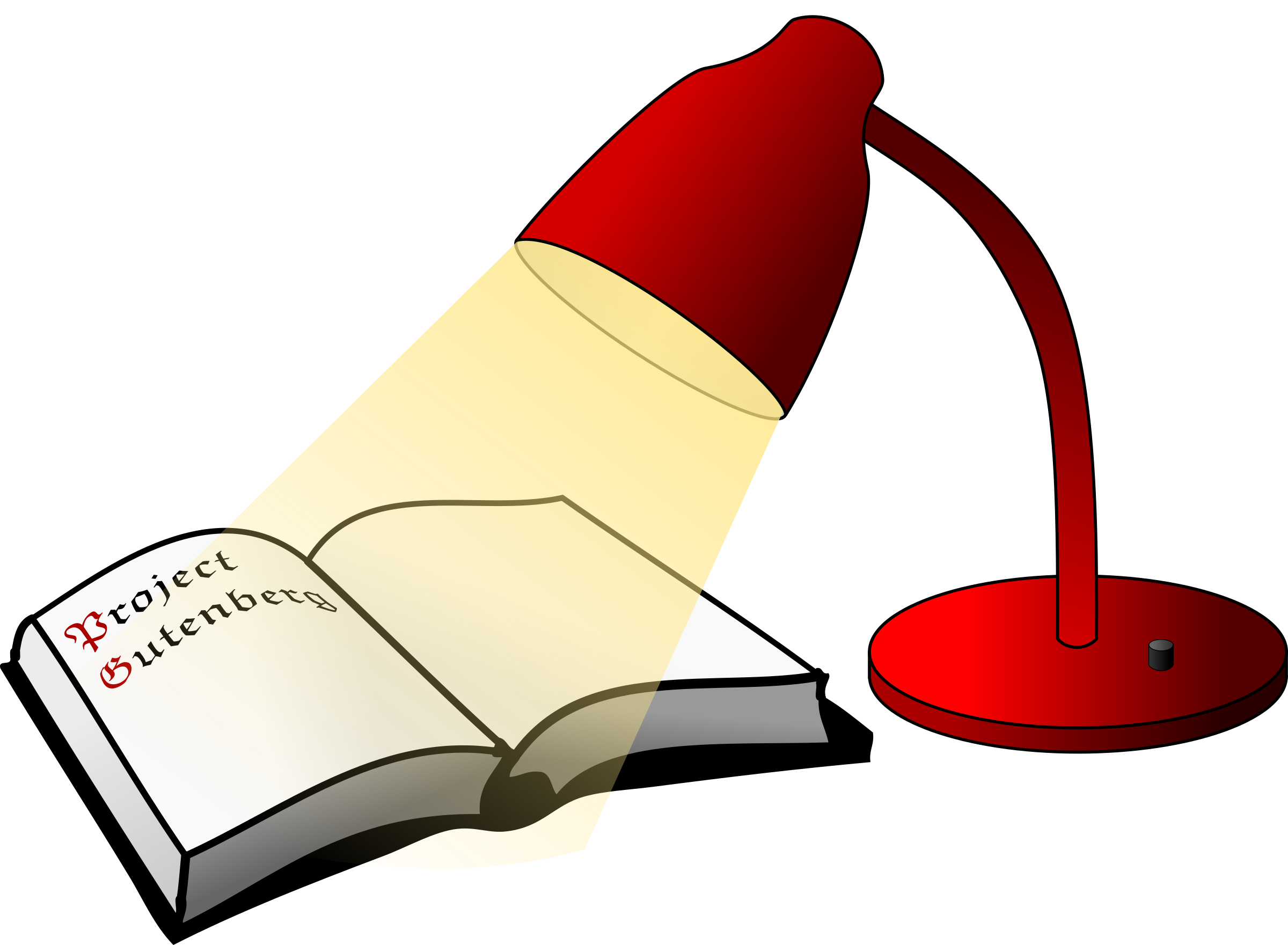 Book and light big. Lamp clipart deya